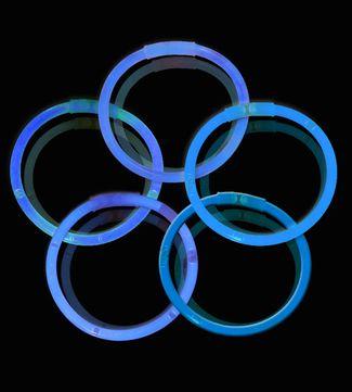 Knæklys - Ensfarvede - Blå (100 stk.) 1 / 1