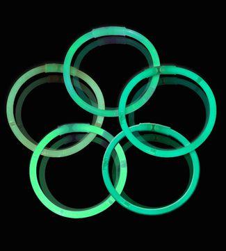 Knæklys - Ensfarvede - Grøn (100 stk.) 1 / 1