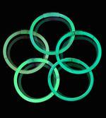 Knæklys - Ensfarvede - Grøn (100 stk.)