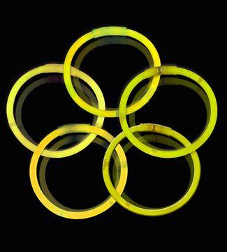 Knæklys - Ensfarvede - Gul (100 stk.) 1 / 1