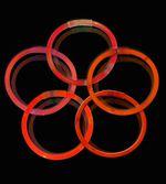 Knæklys - Ensfarvede - Rød (100 stk.)