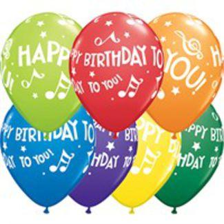 Happy Birthday Music Ballons - 25 stk. 1 / 1