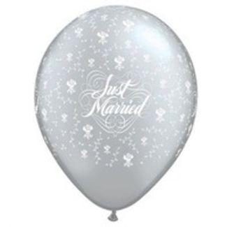 Just Married Blomster Sølv - 25 stk.  1 / 1