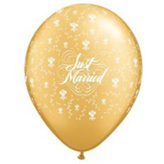 Just Married Blomster Guld - 25 stk. 1 / 1