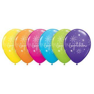 Elegant Congratulations Ballons - 25 stk. 1 / 1